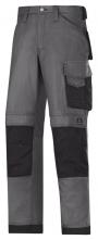 Kalhoty SNICKERS Canvas+ komfortní zesílení Cordura šedo/černé