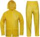 Oblek CARINA blůza s kapucí na zip a kalhoty do pasu PES/PU žlutý velikost XL