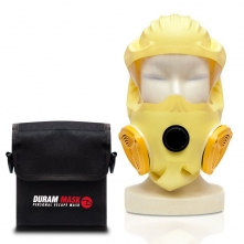 Pouzdro na opasek pro požární únikovou masku COGO suchý zip černé