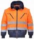 Bunda PILOT Hi-Vis 3v1 odepínatelná vložka a rukávy výstražná oranžová s tmavě modrou