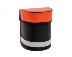 Pouzdro Sundström SR 339 pro polomasky a únikové masky na opasek černo/oranžové
