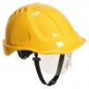 Ochranná průmyslová přilba Endurance Plus Visor ABS oční štít podbradní pásek račna žlutá