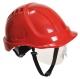 Ochranná průmyslová přilba Endurance Plus Visor ABS oční štít podbradní pásek račna červená