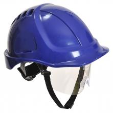Ochranná průmyslová přilba Endurance Plus Visor ABS oční štít podbradní pásek račna modrá
