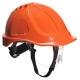 Ochranná průmyslová přilba Endurance Plus Visor ABS oční štít podbradní pásek račna oranžová