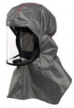 Dýchací kukla FLOWHOOD FH2 prodloužená na ramena bez hadice pro Proflow, Tornado, Duraflow, Spirit šedá