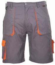 Krátké pracovní kalhoty TEXO Contrast šedo/oranžové velikost XL