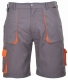 Krátké pracovní kalhoty TEXO Contrast šedo/oranžové velikost XXL