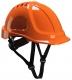 Ochranná průmyslová přilba Endurance ABS podbradní pásek račna vysoceviditelná oranžová