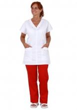 Halena Magdaléna dámská propínaná krátké rukávy boční kapsy bílá velikost 44
