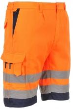 Montérkové kalhoty HIVIS krátké PES/BA 2 reflexní pruhy oranžovo/modré