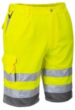 Montérkové kalhoty HIVIS krátké PES/BA 2 reflexní pruhy žluto/modré