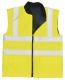 Vesta REVERSIBLE oboustranná zateplená výstražná reflexní pruhy žlutá velikost XXL
