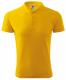 Polokošile PIQUE 200 BA/PES krátký rukáv dvojitý lem rukávy+límec 3 knoflíky žlutá