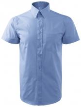 Košile pánská krátký rukáv světle modrá velikost XL