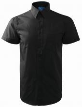 Košile pánská krátký rukáv černá velikost XL