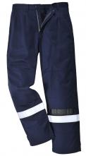 Ochranné kalhoty BIZFLAME PLUS do pasu antistatické nehořlavé odolné elektrickém oblouku reflexní pruhy tmavě modré