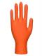 Rukavice PW A930 HD jednorázové nitrilové textura balení 100ks oranžové