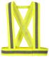 Popruhy výstražné HV CROSS 1 vodorovný+2 svislé reflexní pruhy žluté