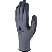 Rukavice DELTA VENITEX 728 úplet PES/akryl máčené nitrilem protiskluzné nopy zateplené dotykové šedo/černé
