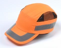 Čepice se skořepinou PROTECTOR FBC+ HC22HV zkrácený štítek výstražná oranžová