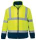 Mikina Hi-Vis fleece stojáček zapinání na zip 2+2 reflexní pruhy žluto/modrá