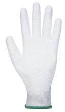 Rukavice  PU Fingertip ESD pylon/uhlík/PU bezešvé antistatické máčená dlaň + prsty šedé