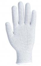 Rukavice Knittip ESD pylon/uhlík/PU bezešvé antistatické úplet 15 pružná manžeta šedé