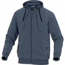 Mikina ANZIO klokanka meltonPES/BA kapuce zip kapsy u pasu tmavě modrá