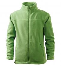 Mikina Jacket 280 dětská fleece antipeeling stojáček kapsy na zip trávově zelená
