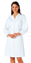 Plášť potravinářský dámský FORTIS PLUS PES/BA vnitřní kapsa kryté zapínání bílý