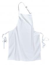 Zástěra s náprsenkou Gastro Klasik polyester/bavlna 72 x 95 cm bílá
