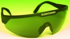 Brýle SUNDOWNER černý rám zelené