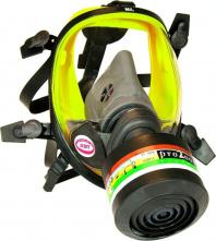 Celoobličejová maska SCOTT VISION 1000 přední připojení filtru žlutá silikonová lícnice
