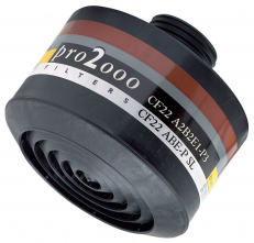 "Filtr SCOTT PRO2000 CF22 A2B2E1P3 R D se závitem 40 mm x 1,7"""