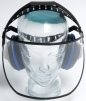 Štít SAFE 1 polykarbonátový čirý se sluchátky EH4