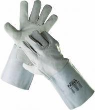 Rukavice celokožené MERLIN hovězí štípenka dlouhá manžeta velikost 11