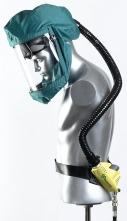 Kukla dýchací SCOTT TORNADO T-3 celoobličejový ventilovaný štít zelený