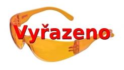 Brýle C4 atraktivní polykarbonátové stavitelné oranžové
