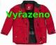 Bunda ADMIRAL laminovaný nylon červená velikost M