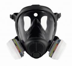 Celoobličejová maska SCOTT PROMASK 2 TWIN silikonová lícnice filtry PRO2 černá
