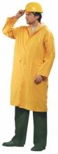 Plášť CETUS polyester pokrytý silnou vrstvou PVC raglánové rukávy žlutý velikost L