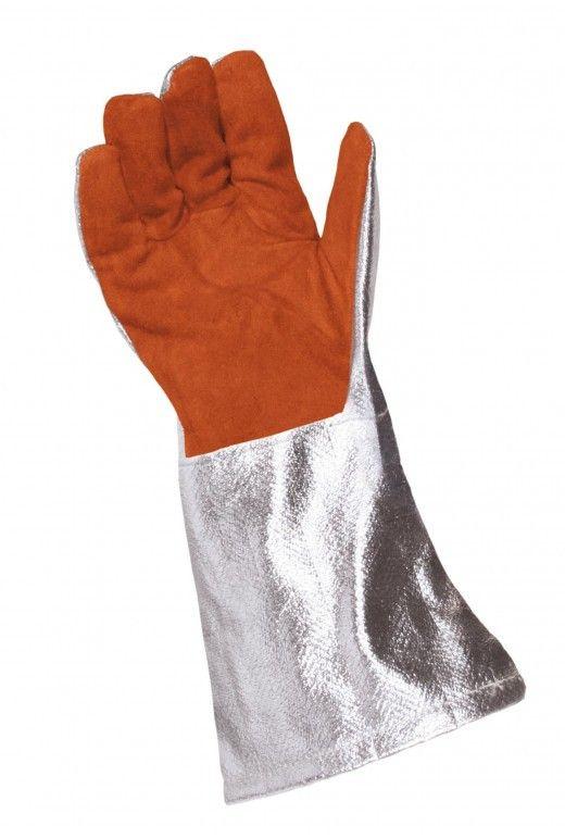 Rukavice prstové tepluodolné do 200°C krátké