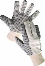 Rukavice CERVA OSPREY režná bavlna PVC čočka pánské