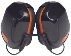 Mušlové chrániče PROTECTOR ZONE 2 upevnění přes zátylek SNR31 černo/oranžový
