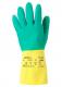 Rukavice Ansell BI-COLOUR latexové délka 322 mm modro/žluté velikost 8