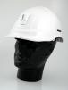 Přilba PROTECTOR STYLE 600 ABS ventilovaná lampový držák bílá