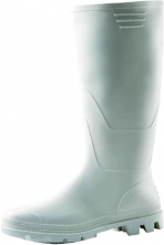 Obuv holínka Ginocchio bianco PVC vysoká bílá velikost 38