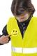Výstražná dětská sada NARDA výstražná vesta s klíčenkou reflexními pruhy smajlíkem žlutá