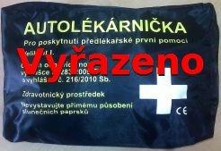 Autolékárnička dle vyhl.283/2009 černý polštářek